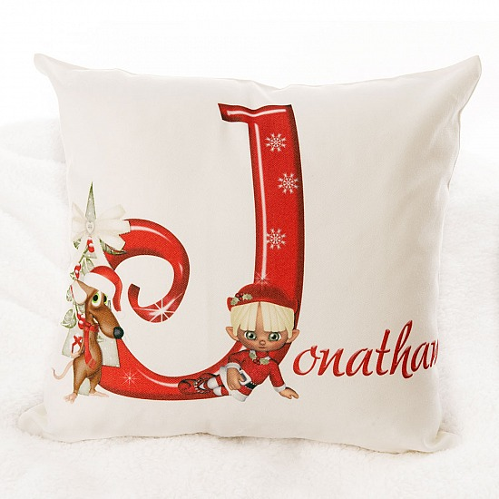 Personalised Christmas themed Cushion Cover