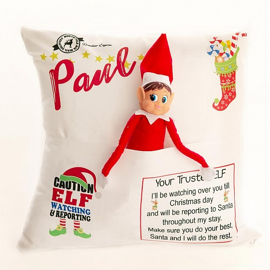 Personalised Elf Cushion Cover